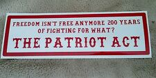 HELLS ANGELS SUPPORT STICKERS Patriot Act 1x3