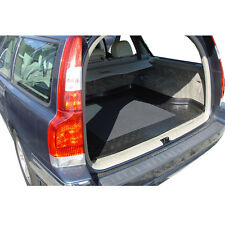 Perfect Fit Black Durable Boot Liner Mat Tray Tailored for Volvo V70 2000-2007