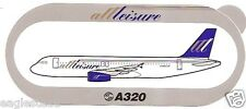 Baggage Label - All Leisure Airways - A320 - Airbus - Sticker (BL489)