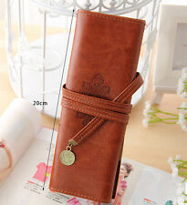1 pc Make-up instrument Honorable Pencil Pen Case Storage Bag  PU Leather Clutch