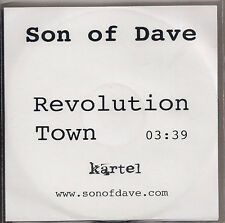 Son of Dave Revolution Town 1 track Promo with insert in plastic wallet  UK CD