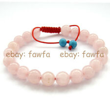 New 8mm Pink Jade Tibet Buddhist Prayer Beads Mala Bracelet