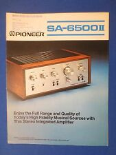PIONEER SA-6500 II INT AMP SALES BROCHURE FACTORY ORIGINAL THE REAL THING     v2