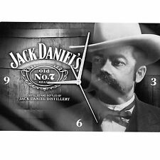 NEW Official Licensed Jack Daniels Jack FACE Glass Clock Pool Room Man Cave
