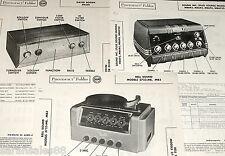 Lot 3 Amp Photofact s: SOUND INC MB6P6 MB6P3 MB6R4 BOGEN PR100 BELL 3723-MB MB3