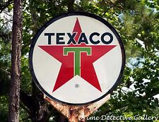 Vintage Texaco Gas Station Sign in East Texas - Giclee Photo Print