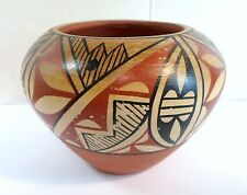 "Vintage EDWINA TOSA JEMEZ PUEBLO VASE POT Signed Small 3.5"" Size N Mexico As Is"