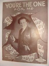 You're the One For Me 1927 sheet music Walter Donaldson, Paul Ash piano, chords