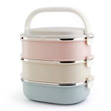 3 Schichte Thermo Edelstahl Lunchbox Brotdose Frühstücksdose Bento Behälter