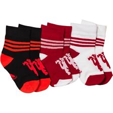 adidas Baby Boys MUFC Manchester United Three Pack Socks size uk 3-4 euro 19-20