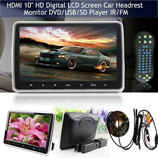 "HDMI 10"" LCD Car Headrest Monitor Pillow DVD/USB TV Player IR Game Touch Screen"