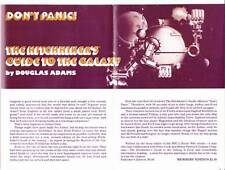 Douglas Adams HITCHHIKER'S GUIDE series in 4 THINGS TO COME newsletters 1980-85