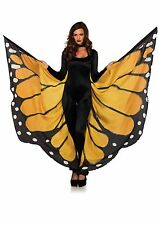 Festival Monarch Butterfly Wing Halter Cape With Wrist Straps and Support Sticks