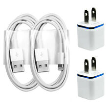 2x Charging / Sync Kits - Cords + Home / Wall Chargers for iPhone 7 6s 6 5s 5c 5