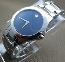 AUTH SWISS MOVADO MASINO/MILITARY BLUE DIAL MODEL#0606332 MEN'S WATCH,RETAIL$795