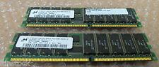 Micron 2 go (2 x 1 Go) p / n: mt36vddt12872g-265c2 pc2100-25331 module de mémoire ddr