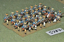 25mm napoleonic french guard foundry tirailleurs 31 figures (5784) metal painted