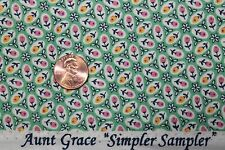 "AUNT GRACE ""SIMPLER SAMPLER"" QUILT FABRIC CIRCA 1930's BTY FOR MARCUS 5872-0314"