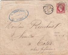 Lettre/Cover France n°17 Cercle de Point CaD 3310 Rare sur 17