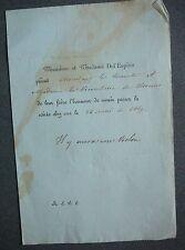 Issy les Moulineaux Invitation du Maire Alexandre Émile de l'Espine.