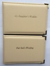 Personalised Photo Pocket Album - Our / My Son's / Daughter's Wedding 6x4 Ivory