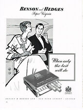 PUBLICITE ADVERTISING 024   1958   BENSON & HEDGES    cigarettes