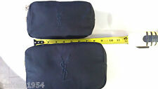 Yves Saint Laurent Cosmetic Bag Set of 2 L M  Makeup Bags New Black  $65.00 Val