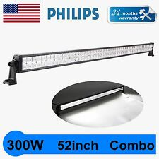 Philips 52inch 300w Spot Flood LED Work Light Lamp Bar Offroad SUV Car Boat Jeep