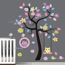 EXTRA LARGE GUFI Fiore Tree Adesivi Da Parete Decalcomania Arte bambini kids Room Decor