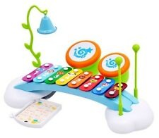 """Children's 15"""" Rainbow Musical Xylophone Piano Bridge Ringing Bell & Drums PS909"""