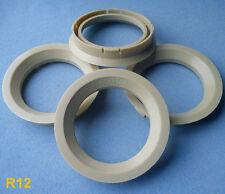 (R12) 4x  Zentrierringe 72,5 / 57,1 mm beige für Alufelgen