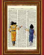 Dragon Ball Z Dictionary Art Print Poster Picture Anime Manga Goku and Vegeta