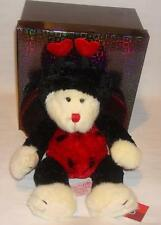 NEW RUSS BERRIE Teddy Bear in Ladybird Ladybug Outfit Ideal I Love You Gift