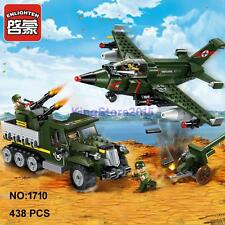 Enlighten 1710 Military Army Plane Gun Bomber Building Block Toy lego Compatible