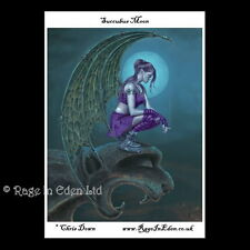 *SUCCUBUS MOON* Fantasy Cigarette Smoking Fairy Art A4 Photo Print By Chris Down