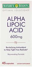 Nature's Bounty, Optimal Solutions, Alpha Lipoic Acid, 600 mg, 45 Capsules
