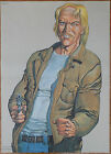 Vintage Comic Book Strip Artist 'Malik' William Tai Target Poster 1992 For Sale