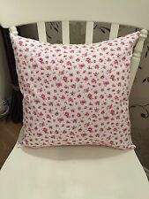 "Rose & Hubble White Pink Vintage Pretty Floral Cushion Cover 16"" Shabby Chic"