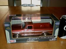 1979 FORD F-150 CUSTOM TRUCK, MOTOR MAX DIE CAST FACTORY BUILT TOY, 1:24