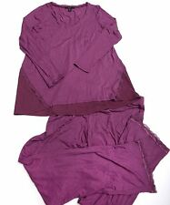 TAHARI Womens PAJAMAS SLEEPWEAR Size Medium Plum  NWT NEW