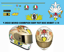 1/12 VALENTINO ROSSI  2009 9 TIMES CHICKEN TEST HELMET DECALS TB DECAL TBD36