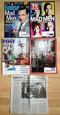 Lot 5 Mad Men: 2012 TV Guide/Entertainment Weekly + 2014 Time/Saturday Eve Post