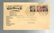 1934 Lorenzo Marques Mozambique commercial cover to USA John Orr & Company 2