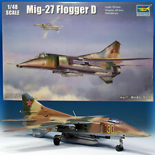 TRUMPETER 1/48 MIG-27 FLOGGER D 'PLATYPUS' LARGE KIT OVER 480 PCS