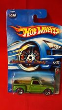 Hot Wheels 2006 Red Line 1/5 '69 Custom Chevy C10 Truck Green New on Card