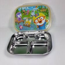 Lunch Box Bento Pororo Character Toys stainless lunch box  Made in Korea Tray
