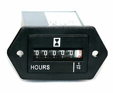 Hour Meter Gauge for Generator Engine, non resettable.