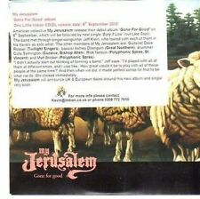 (CC476) My Jerusalem, Gone For Good - 2010 DJ CD