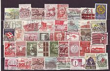Denmark (Europe)-50 Diff. Used Good Condition Stamps #F20