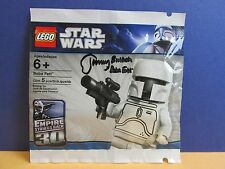 SIGNED BY JEREMY BULLOCH lego star wars WHITE BOBA FETT minifigure polybag rare